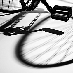 BICYCLE PEDAL AND SHADOW(Overall winner) square by Mary  Hardie